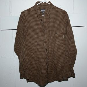 Men Woolrich button down shirt size M J71